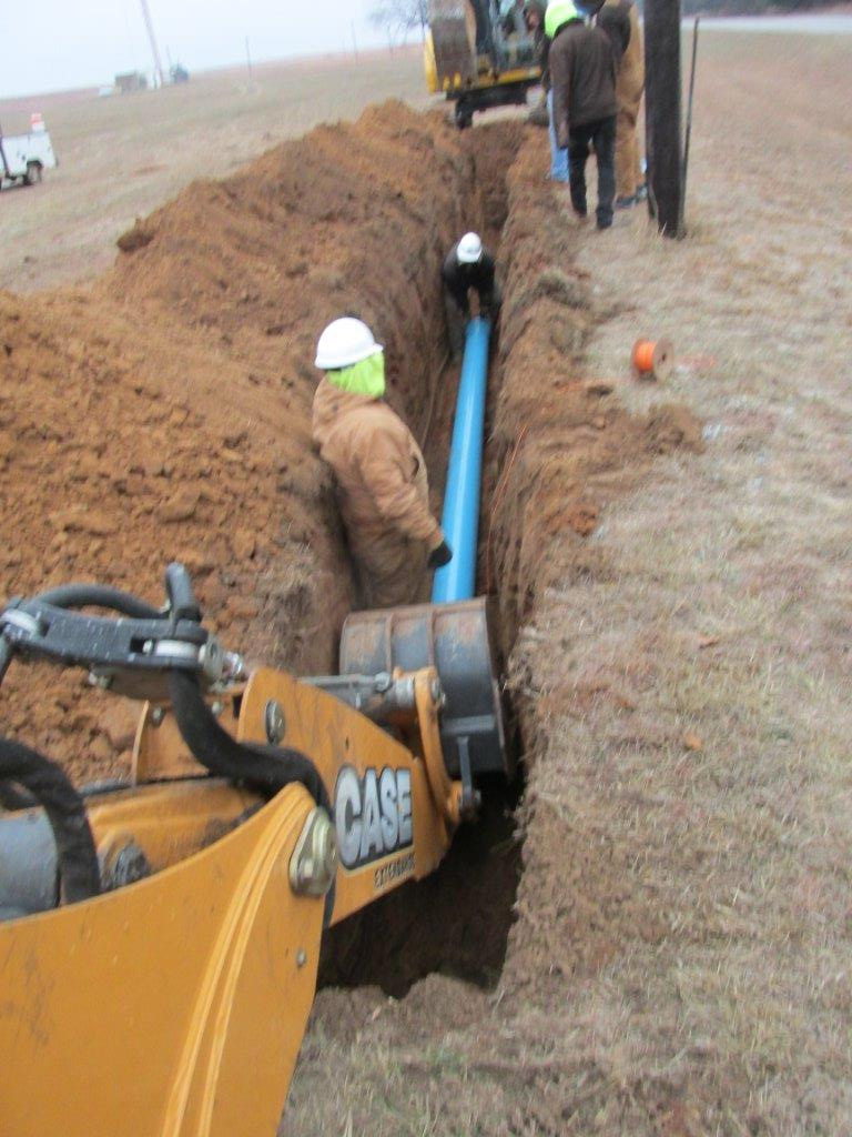 Water Service Installation : M t septic and backhoe services water sewer line